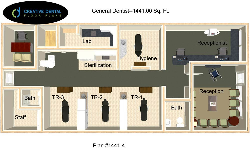 Strip Mall on dental office floor plan design