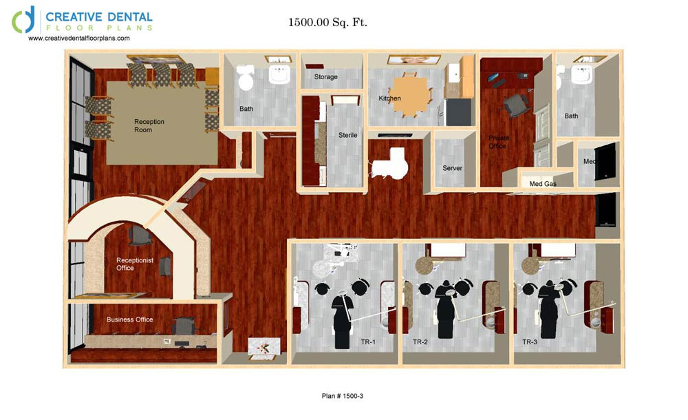 Creative dental floor plans general dentist floor plans for Office plans and designs