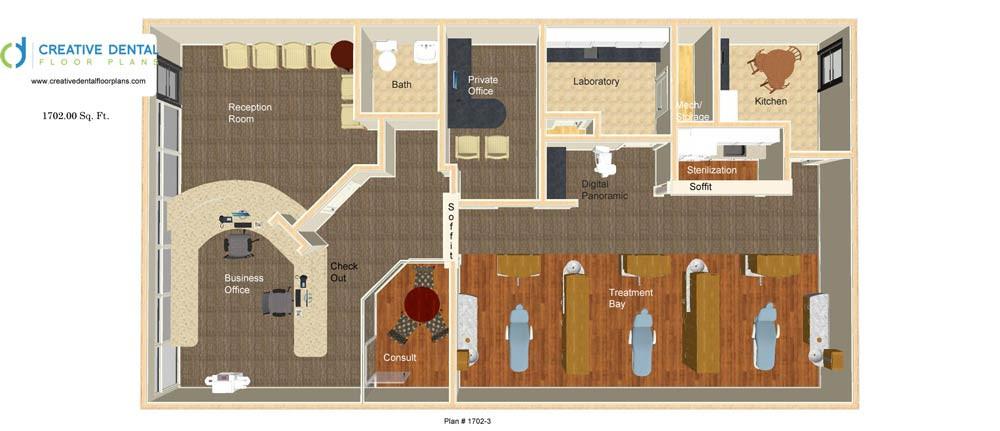 Creative Dental Floor Plans Strip Mall