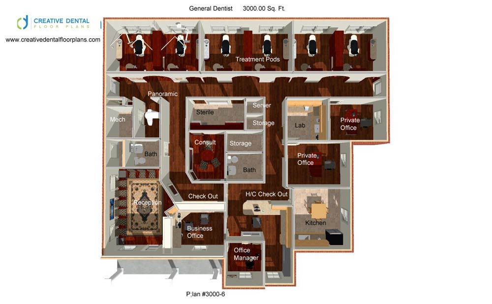 Creative dental floor plans strip mall floor plans for Office design 1000 square feet