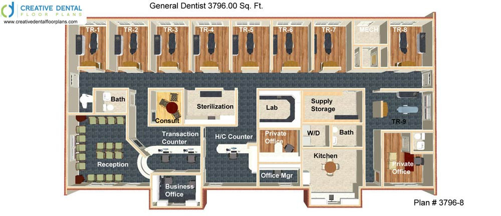 Creative dental floor plans general dentist floor plans for Free office layout design