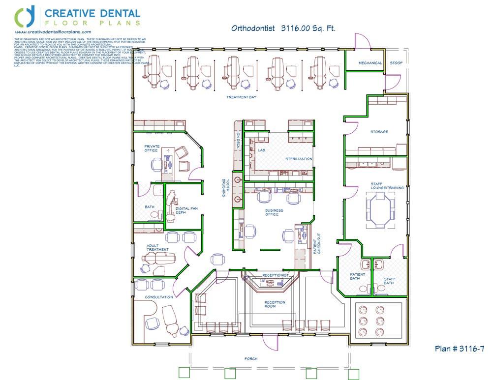 Creative dental floor plans orthodontist floor plans for Dental office design 1500 sq ft