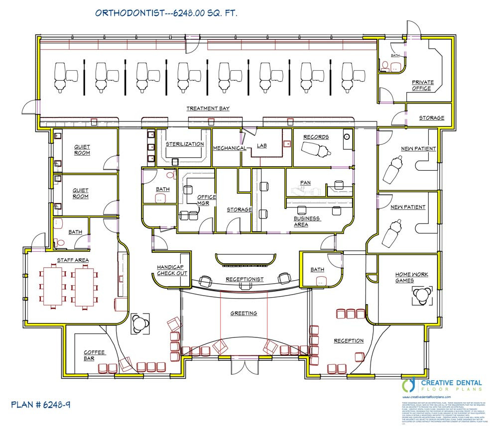Creative dental floor plans orthodontist floor plans for Office layout plan design