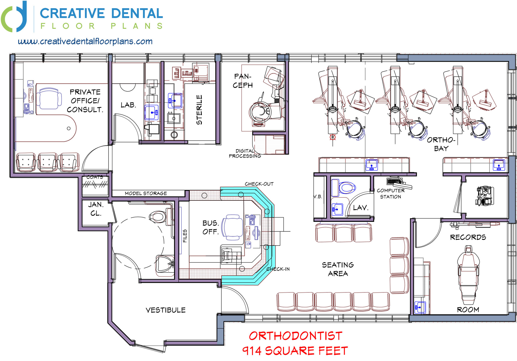 Orthodontic office design floor plan meze blog for Create my floor plan