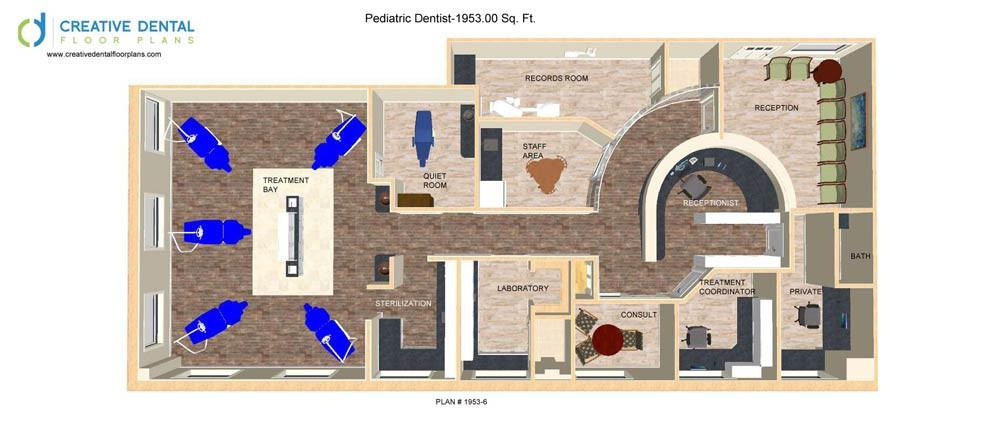 Creative Dental Floor Plans | Pediatric Floor Plans