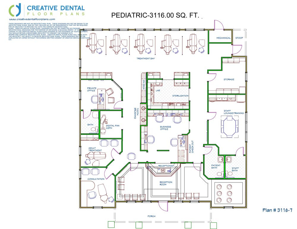 Creative dental floor plans pediatric floor plans for House designs 950 sq ft