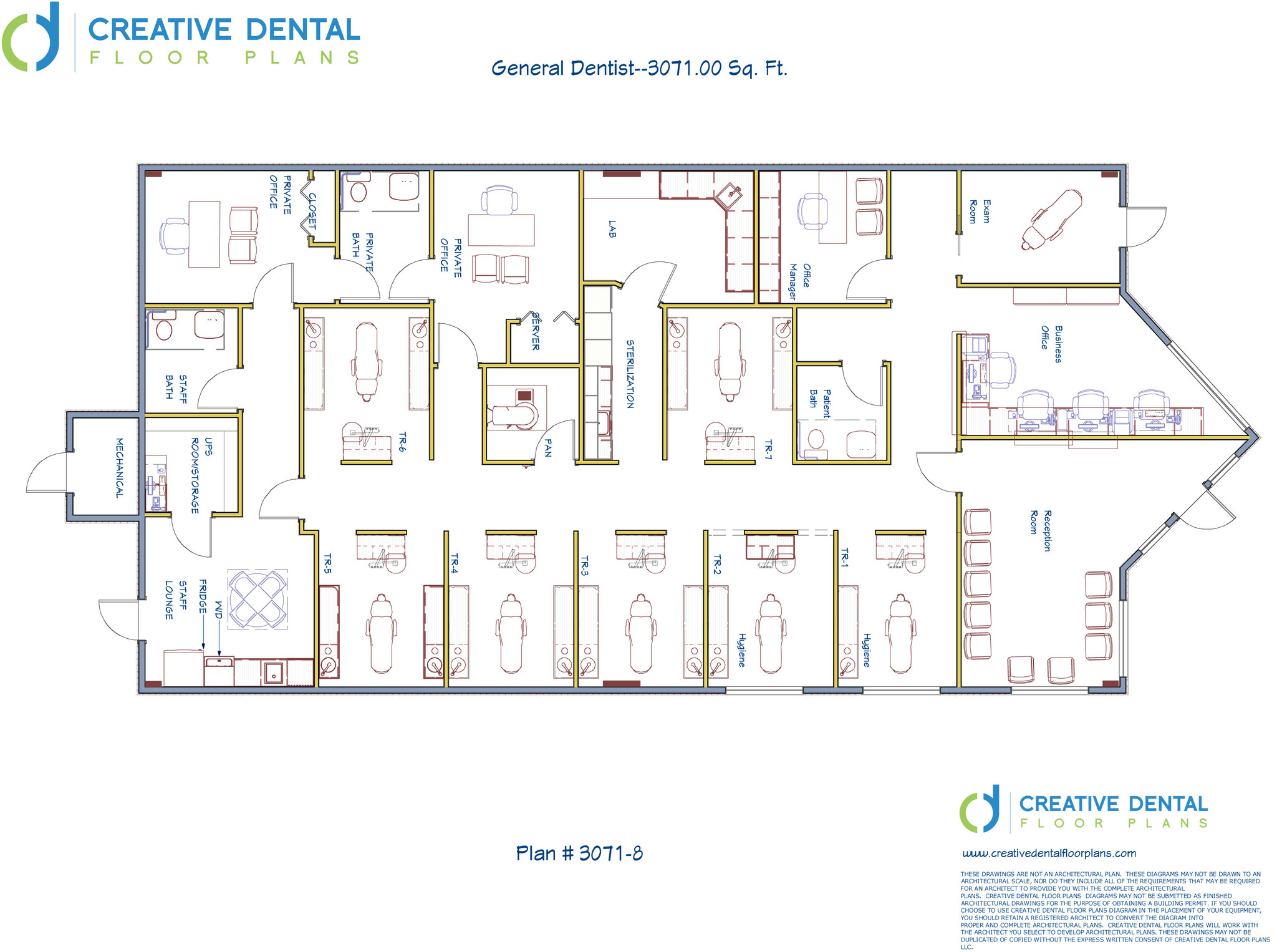Creative dental floor plans strip mall floor plans 4000 sq ft office plan
